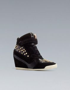 ac74a17627d Zara Fashion Studded Hidden Wedge Sneakers Shoes NWT All Sizes Available