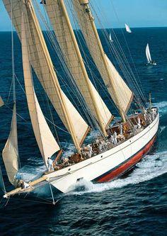 "Classic yacht ""Adix""."