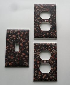 Yummy Coffee Beans Light Switch \u0026 Outlet Covers Plates Set Kitchen Decor | NEED 4 outlet & Light Switch Plate Cover - Cafe Kitchen Decor - Coffee For Sale ...