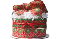 Christmas Baby Diaper Cake  Red and Green von ImagineThatBaby