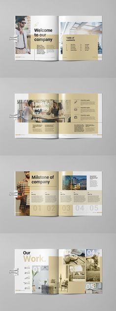 East Brochure template is a 20 pages Indesign template available in square size. Print ready or export and send to clients as a pdf. Corporate Brochure Design, Company Brochure, Business Brochure, Creative Brochure Design, Corporate Profile, Yearbook Layouts, Yearbook Design, Yearbook Spreads, Brochure Cover