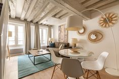1 Bedroom, 1 Bathroom, Sleeps 4 - $189 avg/night - Saint-Gervais - Amenities include: Internet, TV, Satellite or cable, Washer & Dryer, Children Welcome, No Smoking, Heater ✓ Bedrooms: 1 ✓ Sleeps: 4 ✓ Minimum stay from 3 night(s) ✓ Bookable directly online - Book vacation rental 488202 with Vrbo. Paris Airbnb, Open Market, King Bedroom, Paris Apartments, Exterior Lighting, Washer And Dryer, Second Floor, Dining Area, Internet Tv