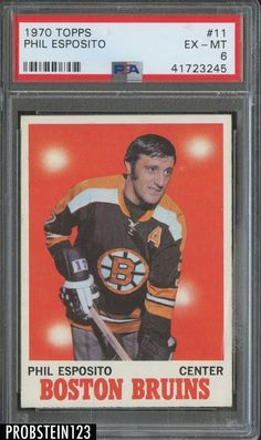 1970 Topps Hockey  11 Phil Esposito Boston Bruins PSA 6 ef231dd75