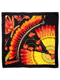"Hermès ""Brazil Detail"" Silk Twill Scarf 90cm"