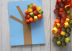 Beautiful Fall Tree Paper Craft | I Heart Crafty Things