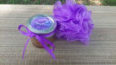 Lavender sugar scrub Shea Butter Scrub body by GeorgiaMadeSoaps