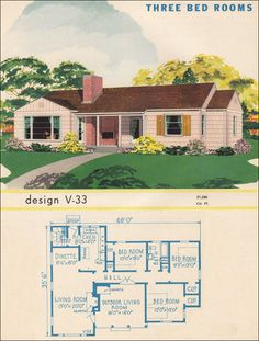 Post War Ranch House   (they loved small kitchens with an exit door) just needs a couple tweaks!