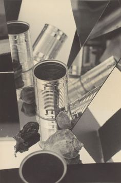 Florence Henri, Still Life (Tin Can and Shell), about 1932, gelatin silver print.