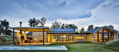 Simplicity, light, and a barn - Africanism Inside Outside, Outside Living, Sense Of Place, Architect House, Pool Houses, Water Features, Barn, Mansions, House Styles