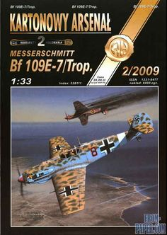 M1:33, Halinski Kartonowy Arsenal 2/2009 Messerschmitt Bf-109E-7 / Trop - WWII German Fighter — Free download paper model M1:33 from From-paper.com