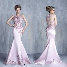 Exquisite Evening Dresses Bateau Applique Lace Sheer Back Formal Prom Gowns Sleeveless 2016 Custom Made Mermaid Evening Party Dresses DZ