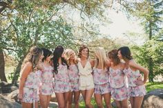 Wedding Bells: How to Plan your Bachelorette Party in 5 Steps {love these adorable rompers}