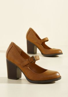 Chapter Meeting Leader Heel. Organizing a gathering for your community group is no easy task, but you make it look effortless in these tan block heels! #tan #modcloth
