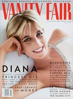 Diana, Princess of Wales, photographed by Mario Testino for the July 1997 cover of Vanity Fair. In a portfolio inside, Diana modeled some of. Mario Testino, Princesa Diana, Demi Moore, Ashton Kutcher, Royal Princess, Princess Of Wales, Princess Power, Princess Caroline, Kate Winslet