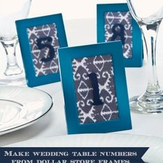 DIY wedding numbers from dollar store fr...