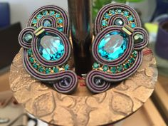 Tempest emerald green earrings by Dori Csengeri. #DoriCsengeri #clips #earrings #green #fall2014 #winter2015 #fallfashion