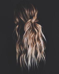 Hair ideas h a i r in 2019 hair styles, hair, hair inspo Ombré Hair, Hair Dos, New Hair, Messy Hairstyles, Pretty Hairstyles, Spring Hairstyles, Wedding Hairstyles, Hairstyles 2016, Casual Hairstyles