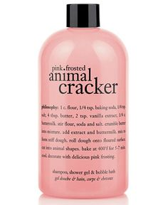 philosophy pink frosted animal cracker 3-in-1 shampoo, shower gel and bubble bath
