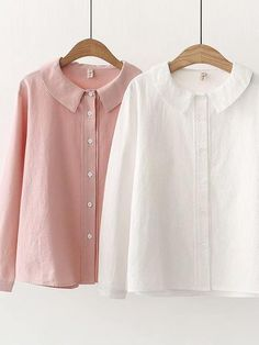 Type:Long SleeveMaterial:CottonNeckline:Peter Pan CollarTheme:Spring/Fall,SummerColor:White,PinkSize Chart Size Sleeve Length Shoulder Length Bust cm inch cm inch cm inch cm inch M 54 41 61 24 102 L 55 42 62 106 Grunge Style, Soft Grunge, Stylish Shirts, Casual Shirts, Grunge Outfits, Fall Outfits, Blouse Outfit, Tunic Blouse, Ankara Blouse