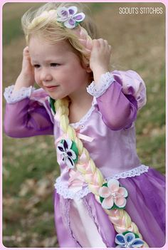 Rapunzel costume, flowers on this one are very pretty, felt?