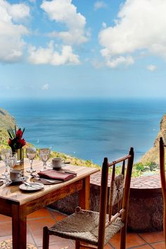 Ladera Resort. Rabot Estate, Soufriere. Dasheene restaurant offers close-up views of the Pitons, plus tasty St. Lucian fare. #Jetsetter