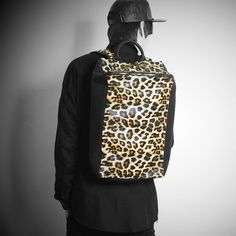 Remember Click Leopard Cube Backpack BLACK ONE SIZE Korean Wear #RememberClick #Backpack