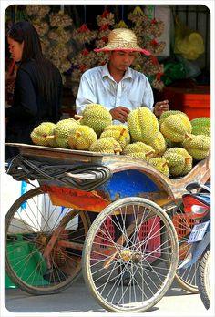 Vendeur de durians