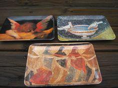 Mebel Italy 3 Melamine Tip Trays Bird Bath Angel Italian Art Decorative Crafts   eBay