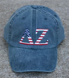 Delta Zeta American Flag Cap by hyunich on Etsy