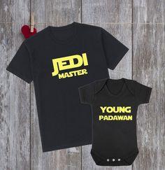 834e674141d5 Star Wars SHIRTS Jedi Master Young Padawan Family Matching shirts Father  and Son shirts Father and Daughter shirts Dad and Son shirts