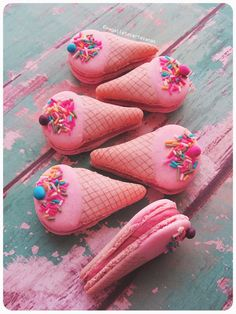 Macarons con forma de helado {Receta y video tutorial}