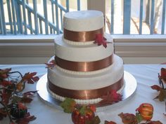 Fall Wedding cake Fall Wedding Cakes, Wedding Ideas, Older Bride, Cakes And More, Marry Me, Event Planning, Getting Married, Bliss, Dream Wedding