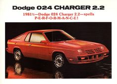 1981-1/2 Dodge 024 Charger 2.2