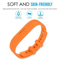 Wristband Bracelet Strap Replacement Watch Band Fitness Tracker For Fitbit Flex Replacement Watch Bands, Fitness Tracker, Fitbit Flex, Pop, Orange, Bracelets, Ebay, Accessories, Popular