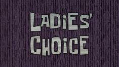 SpongeBob Music: Ladies' Choice