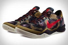 I love me some Kobe, but he has consistently put out the ugliest basketball sneakers ever. some style points for the idea of graphic snakeskin inspired by his nickname, Black Mamba, but while the idea is cool, it actually looks pretty horrible. Nike Kobe 8 System Basketball Shoes.