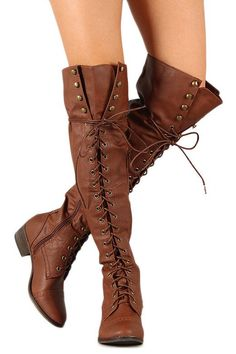 Steffy Knee High Lace Up Boots