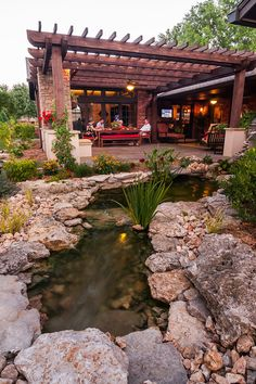 Love the little creek in this space  Bartlesville Outdoor Living
