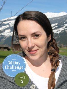 30 Day Challenge Neuer Tag, neue Frisur. Jeden Tag ein anderes Styling ist die Challenge unserer Redakteurin Bianka. An Tag 3 überraschte sie uns mit einem Seitenzopf à la Heidi.