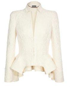 Silk-cotton Jacquard Peplum Jacket...perfect for spring