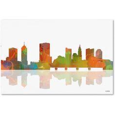 Trademark Fine Art Columbus Ohio Skyline Canvas Art by Marlene Watson, Size: 16 x 24, Multicolor