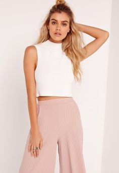 Crisp, clean and classy AF, this gorg top is deffo on out lust have list. Featuring a high neck and cropped cut, it's gonna be abbs for days with this ivory beaut. Let it carry you from your desks to drinks and look hella' fierce as your sl. Missguided, Knitwear, Your Style, Sweaters For Women, Classy, Fashion Outfits, Crop Tops, Ivory, Shopping