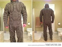 Full body knitted suit for those harsh winter mornings…