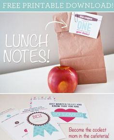 MamaCheaps.com: FREE Printable Lunch Box Notes