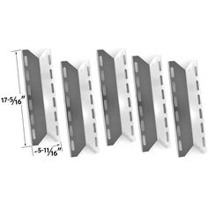 REPLACEMENT 5 PACK STAINLESS STEEL HEAT PLATE FOR PERMASTEEL, CHARMGLOW, HOME DEPOT, NEXGRILL, PERFECT FLAME, PERFECT GLO GAS GRILL MODELS Fits Compatible Permasteel Models : PG-50400S