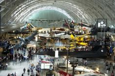 National Air and Space Museum. Free admission!!!!! Except for parking which is $15 but free after 4pm. Also exhibit inside, Albert Einsteins planetarium , charges small admission for 2 shows however 1 show is free if you get there at 1030am. :-)
