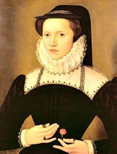 Portrait of Mary Ann or Anne Waltham, Lady in waiting to Mary Queen of Scots. 1572.