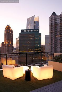 Looks like Boston Legal's scotch and cigars balcony
