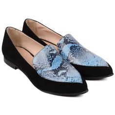 #balerini #snake #snakeskin #blue #albastru Snake Skin, Loafers, Blue, Shoes, Fashion, Travel Shoes, Moda, Zapatos, Moccasins