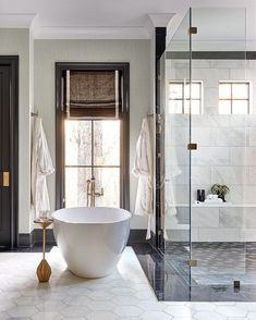 """The Shade Store on Instagram: """"Greetings, weekend. It's been too long. Get the look: #linkinbio Design: @Kathrynlillyinteriors for the #idscharlotteshowhouse // Photo:…"""" Samuel And Sons, Decorative Borders, Clawfoot Bathtub, Get The Look, Window Treatments, Blinds, Swatch, Improve Yourself, Room Decor"""